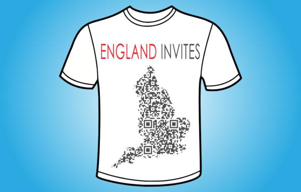 England Invites QR - koszulka