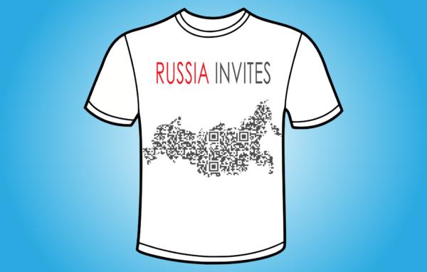 Russia Invites QR - koszulka