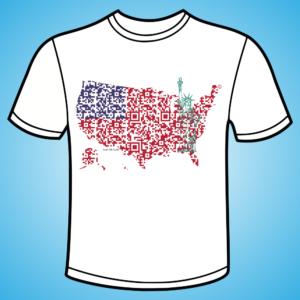 koszulka - USA QR 3